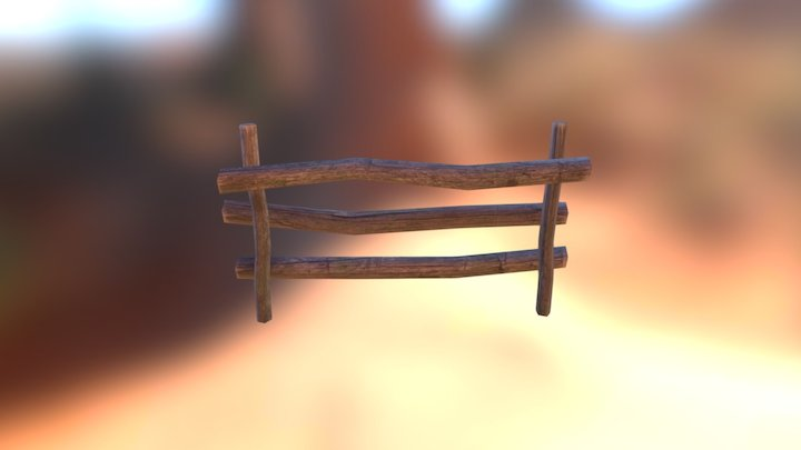 Wooden Old Fence 3D Model