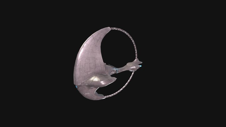 Ring spaceship 3D Model