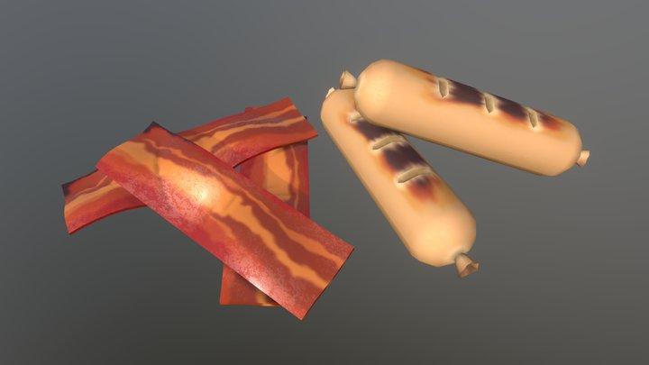 Breakfast Meats 3D Model