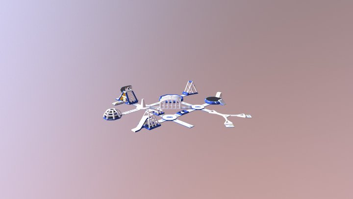 Aquapark 75 Circuit 3D Model