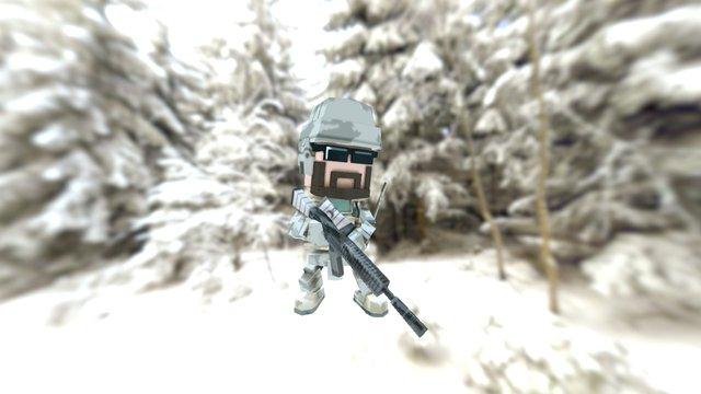 Q soldier 3D Model
