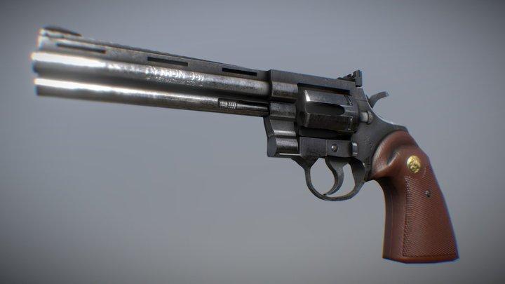 3D Colt Python 357 3D Model