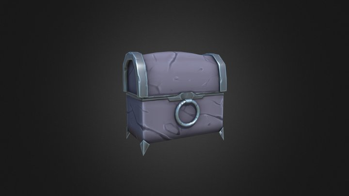 Chest Stylized 2 3D Model