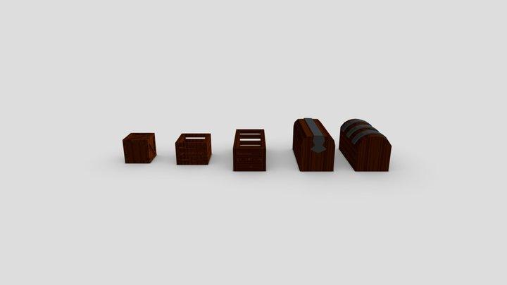 Caixas, Caixotes e Baús 3D Model
