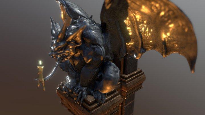 Hero & Demon King - Gargoyle 3D Model