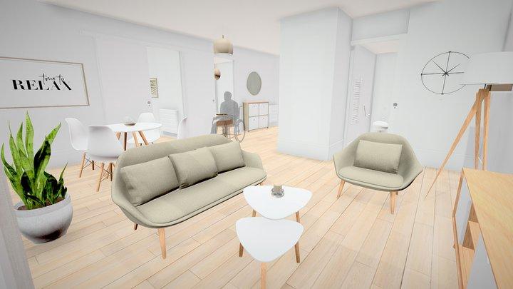 Appartement T3 - Résidences Mobicap Red 3D Model