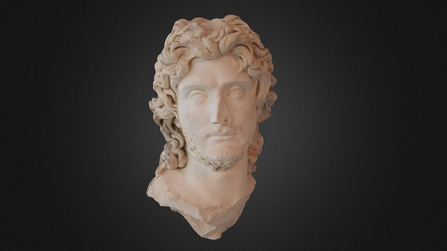 Portrait of a Ruler. circa 2nd. century AD 3D Model