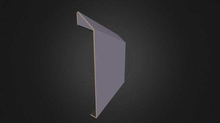 stainless steel kerb profile 3D Model