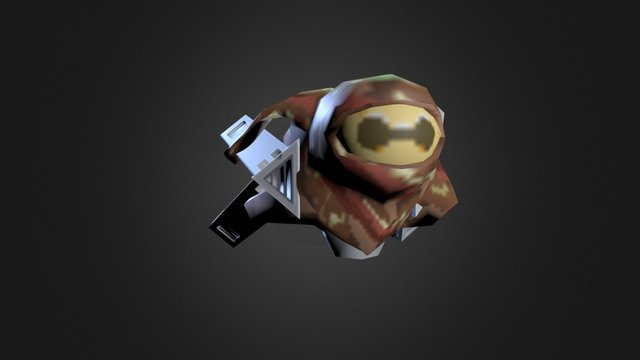 Enemy Ship - Dark Luna - Mobile Ready 3D Model