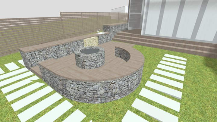 Balatonvilágos_korábbi verzió_kerti sütögető 3D Model
