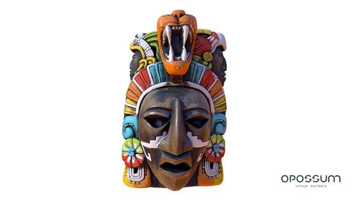 Mayan face mask Souvenir 3D Model
