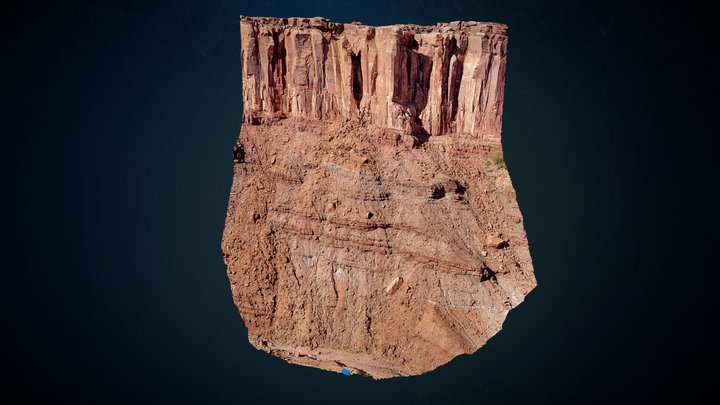 800 Foot Moab Cliff - From 538 Drone Photos 3D Model