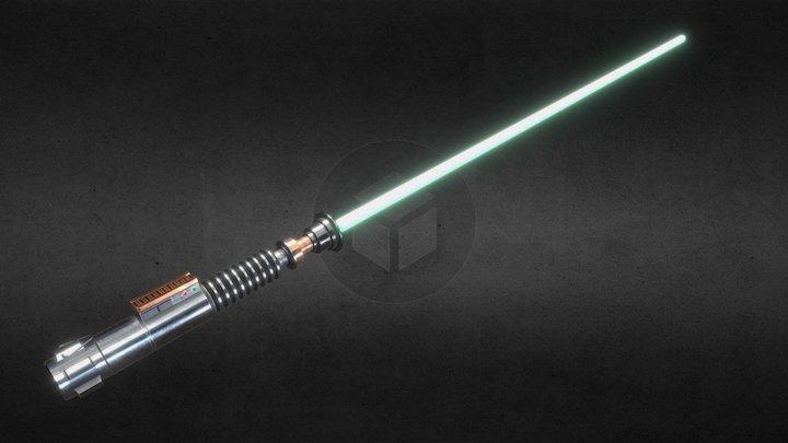 Return of the Jedi - Luke's Lightsaber - Final 3D Model