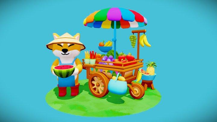 Fruit Cart - Street Food Challenge 3D Model