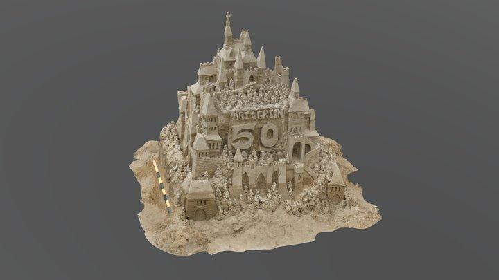 ArtOnTheGreen2018Sandcastle 3D Model