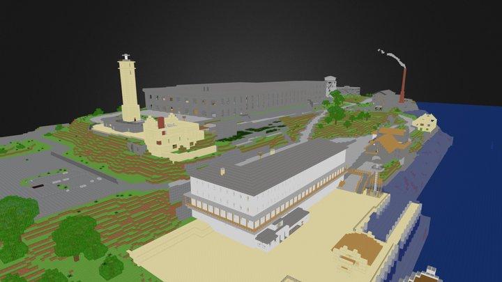 Alcatraz Island (Minecraft map) 3D Model