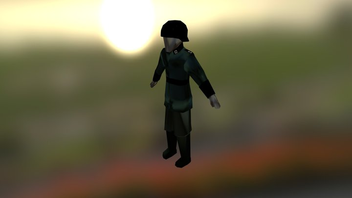 Lowpoly Nazi Soldier Ww2 3D Model