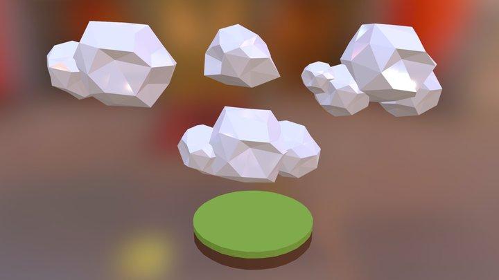 Cloud Low Poly #01 3D Model