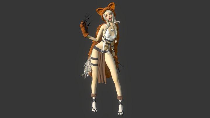 Cat_girl 3D Model