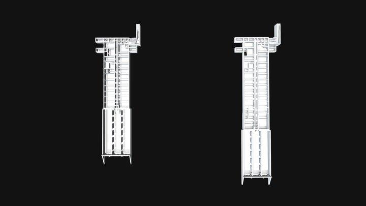 Objekt 17/5020 TO 1 und TO 2 3D Model