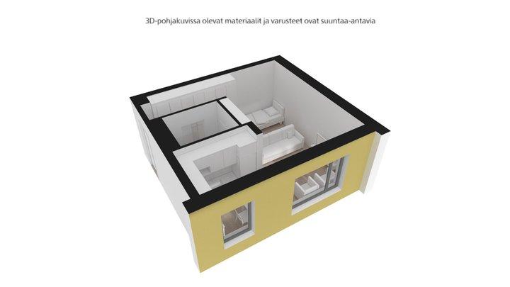 Mustalahdenkatu, Tampere, A8, 1h+kk, 29,5m2 3D Model