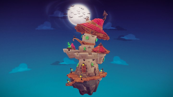 Witchery Diorama 3D Model