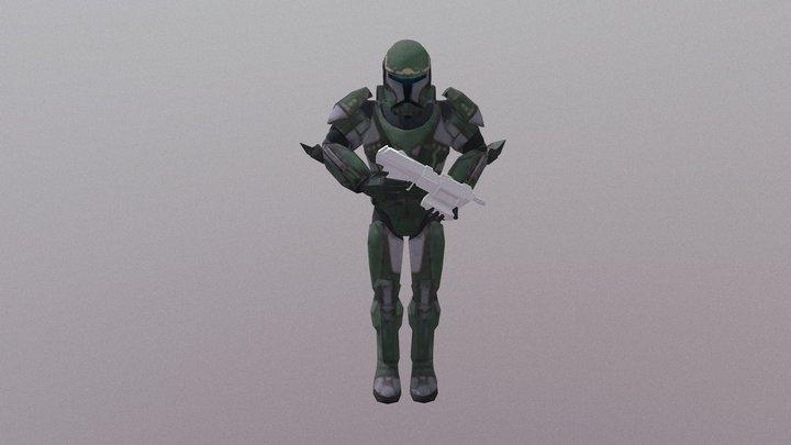 Republic Commando Soldier (Green) 3D Model