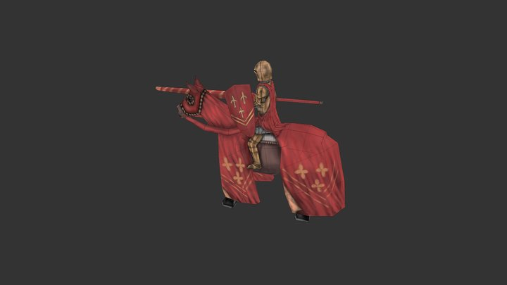 Cavalry (lowpoly) 3D Model