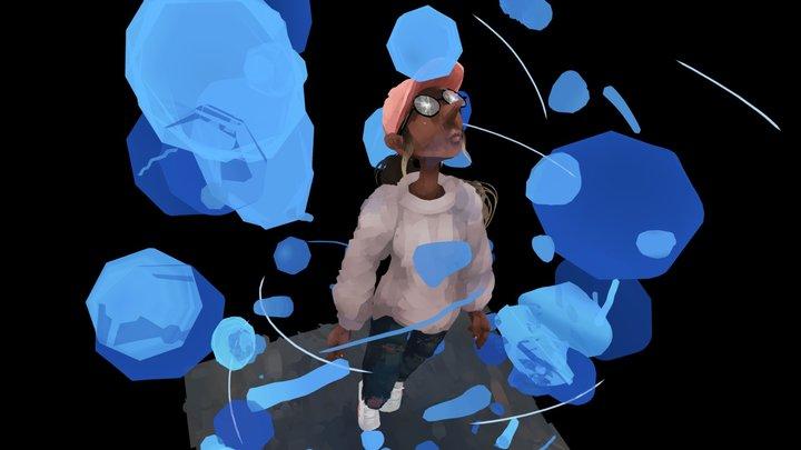 Swim - Oculus Quill 3D Model