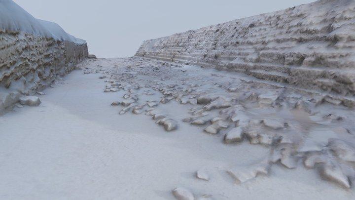 Bedrock and rubble near Pyramid of Khafre - 2019 3D Model