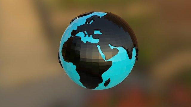 Earth Lowpoly Unfold Animation 3D Model