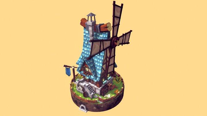 Windmill - FANTASTIC Village Pack 3D Model