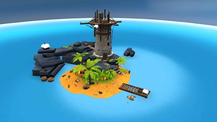One way Trip island. 3D Model