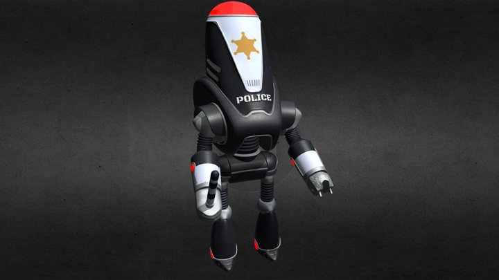 Protectron police 3D Model