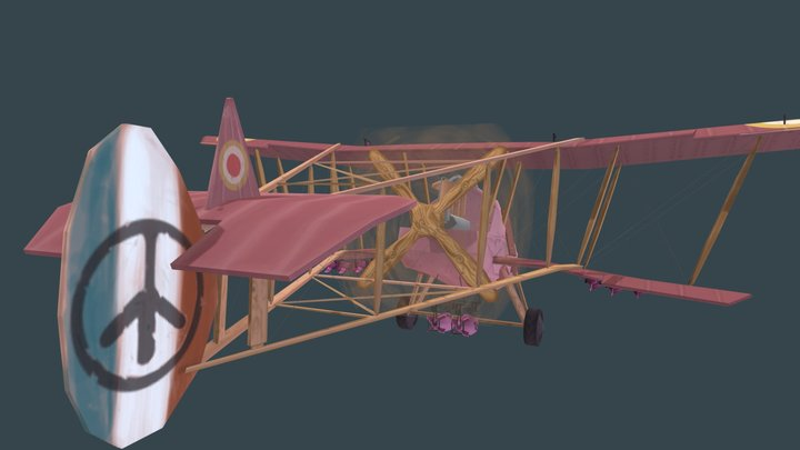 Stoffelen Thijs Game Art Plane 3D Model