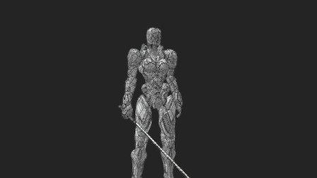 Cyborg Assassin Wasp 3D Model
