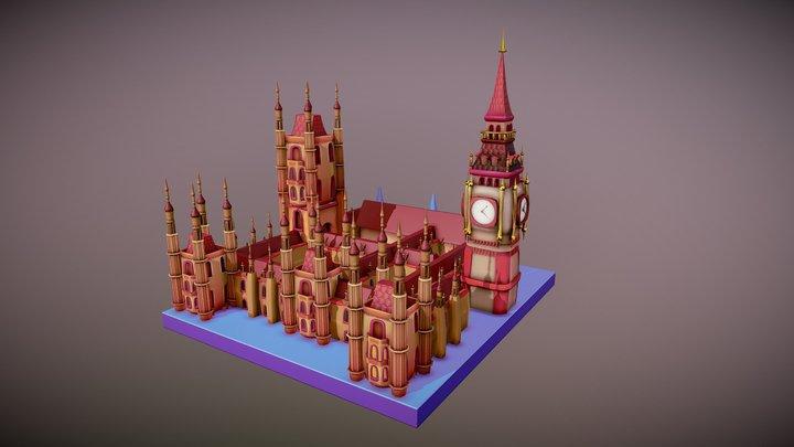 Big Ben & Parliament Building 3D Model
