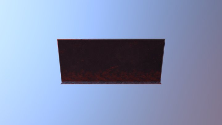 Worn Blackboard 3D Model