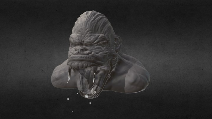 Sculptjanuray19 - Day22 Jungle Beast 3D Model