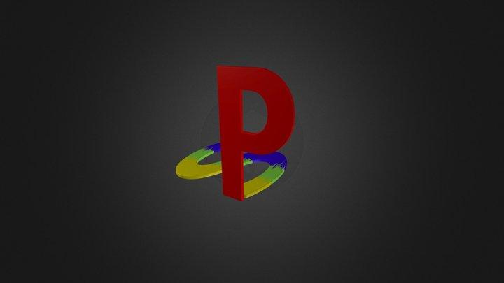 Logo playstation 1 3D Model