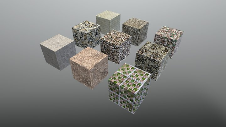 bimage - Texture Pack 01 - Ground and stones 3D Model