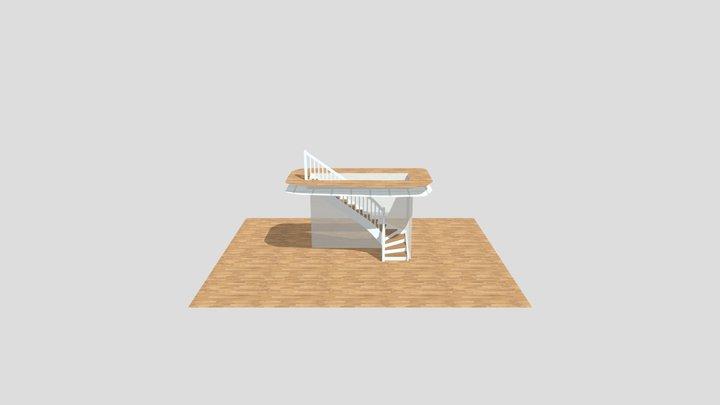 Jevnaker trinn og tre kvartsving 3D Model