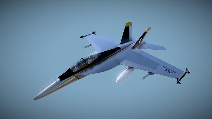 IWC F-18 Fighter Jet 3D Model