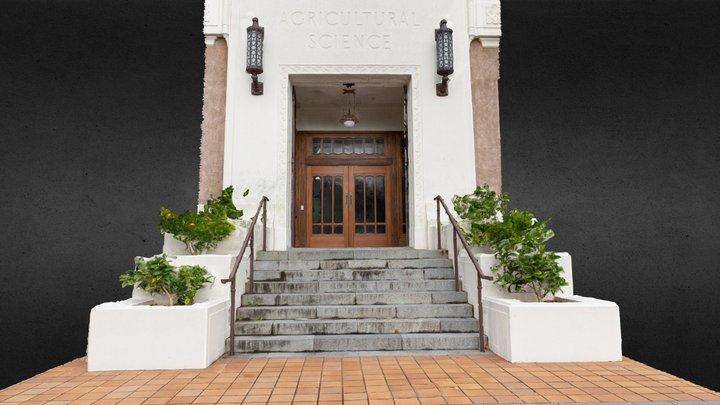 Peren Building entrance, Massey University 3D Model