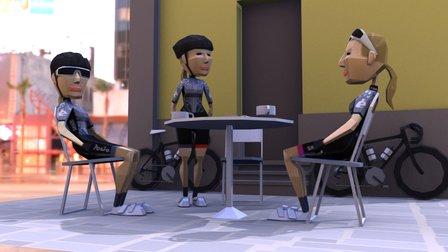 Poly Peloton : Cafe Stop 3D Model