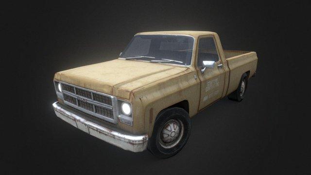 Gmc Sierra Work Truck 3D Model