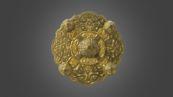 Disc brooch / Korongfibula, Kölked-Feketekapu 3D Model