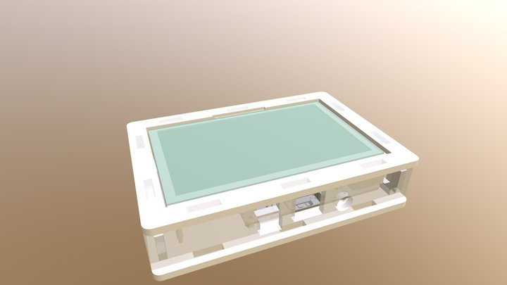 Raspberry Pi LCD case 3D Model