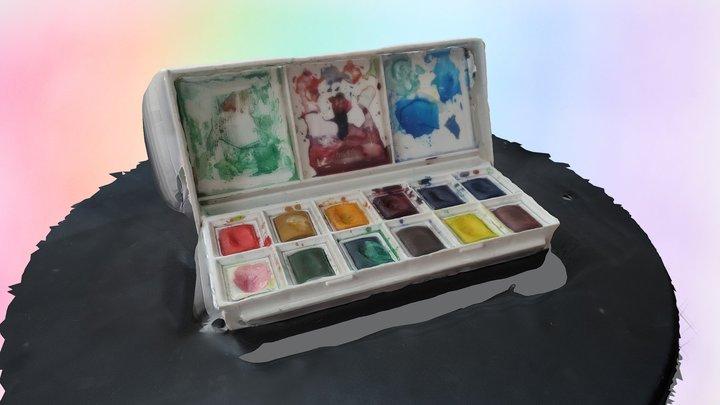 Watercolour Set 3D Model