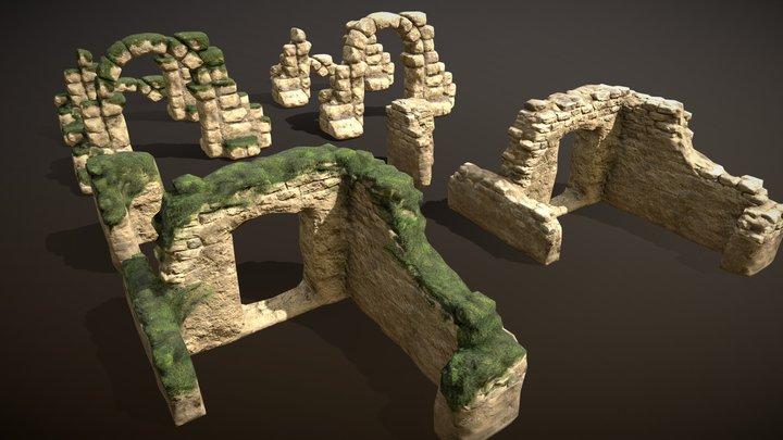 Stone Ruins set 3D Model